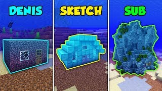 DENIS vs SKETCH vs SUB - UNDERWATER BASE in Minecraft! (The Pals)