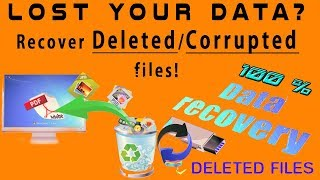 How to Recover Lost/Corrupted Data from usb or SD card