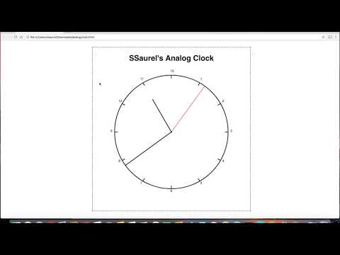 Create an Analog Clock in Canvas with HTML5 and Javascript