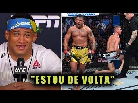 GILBERT DURINHO SOBRE VITÓRIA NO UFC 264| COLETIVA DE IMPRENSA PÓS LUTA UFC 264