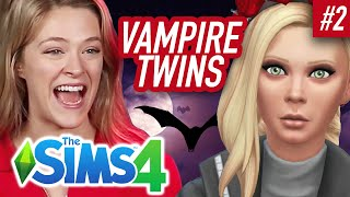 Single Girl's Vampire Twins Fight In The Sims 4 | Part 2