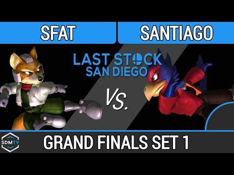 LSSD 125 - CLG.SFAT (Fox) vs. Santiago (Falco) - SSBM Grand Finals Set 1 - Smash Melee