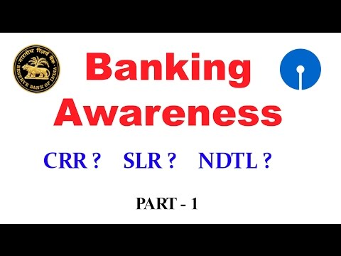 Banking Awareness For SBI PO & Clerk, IBPS PO, SSC CGL [In Hindi] Part 1
