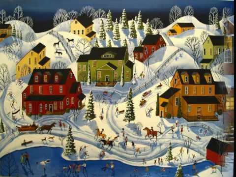 Folk Art Christmas Debbie Mama Criswell folkartmama paintings artist Snow