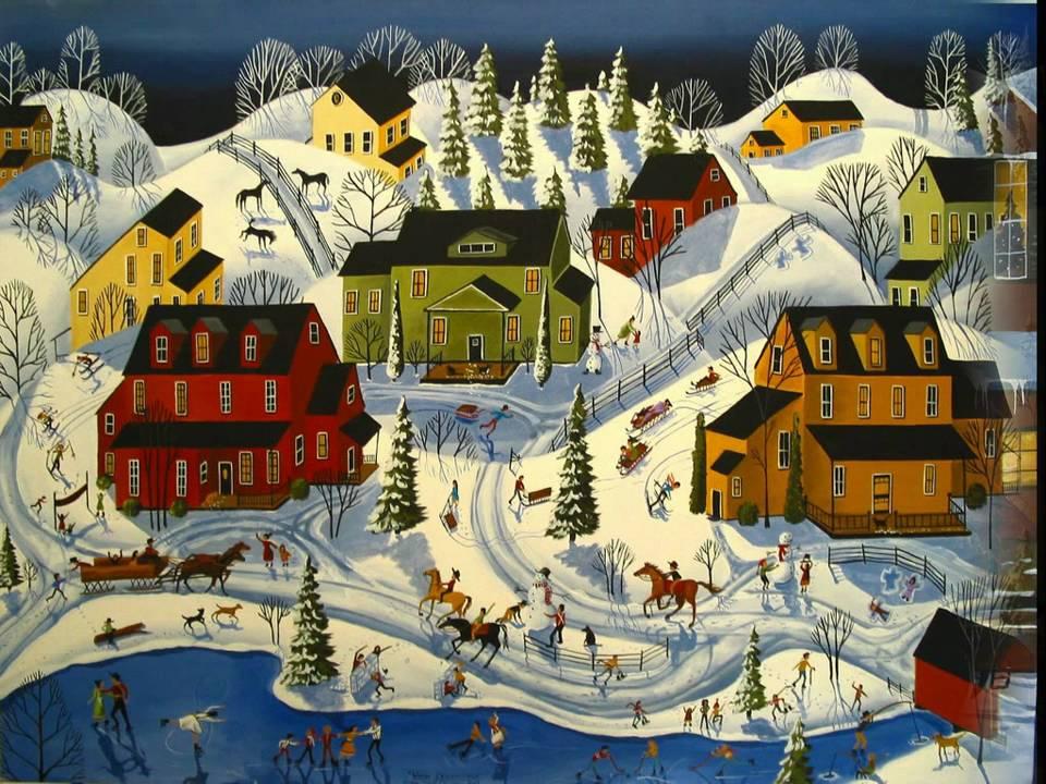 Folk Art Christmas Debbie Mama Criswell folkartmama paintings ...