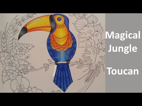 MAGICAL JUNGLE | Color Along of the Toucan - Part 1 |  Coloring Book By Johanna Basford