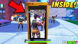 I Glitched INSIDE a Vending Machine To ELIMINATE Players. (Fortnite Battle Royale)