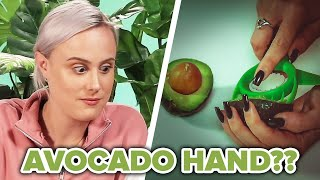 People Test Avocado Slicing Gadgets