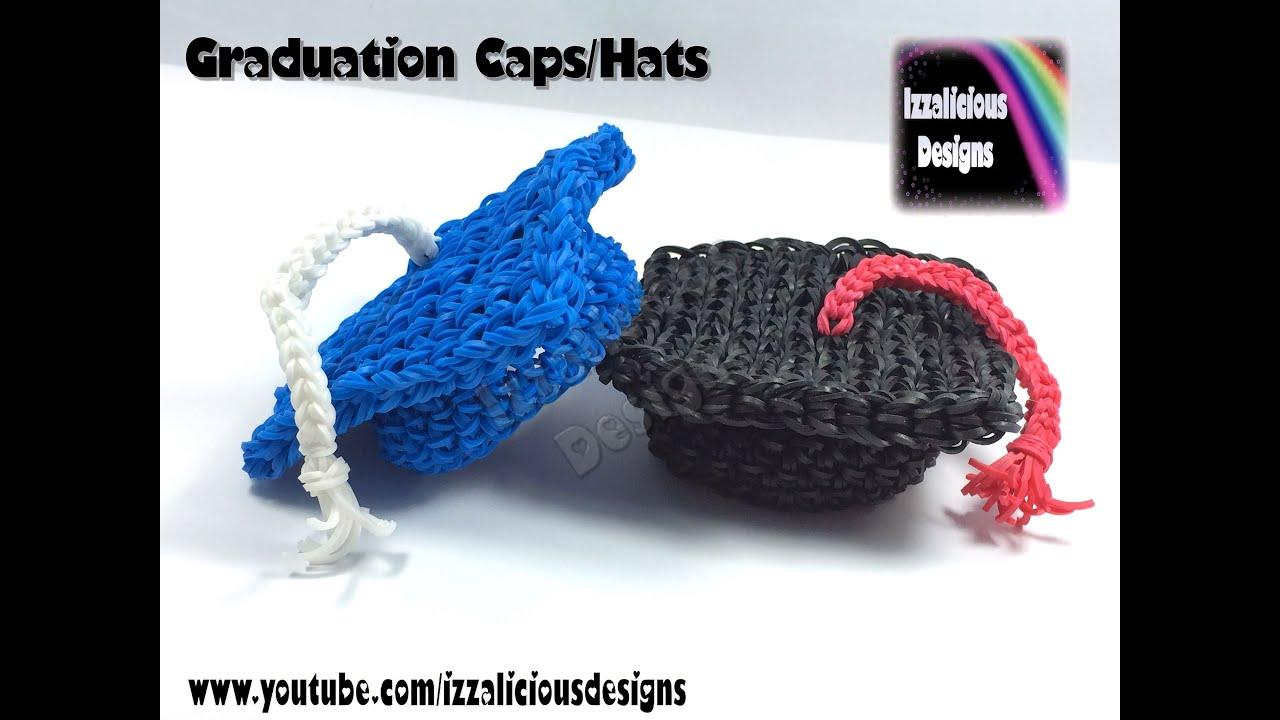 Rainbow Loom Graduation Cap Hat -