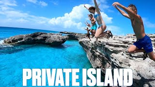 CHARTERING PRIVATE SPORT YACHT TO OUR OWN PRIVATE ISLAND IN WEST CAICOS   TURKS AND CAICOS VACATION