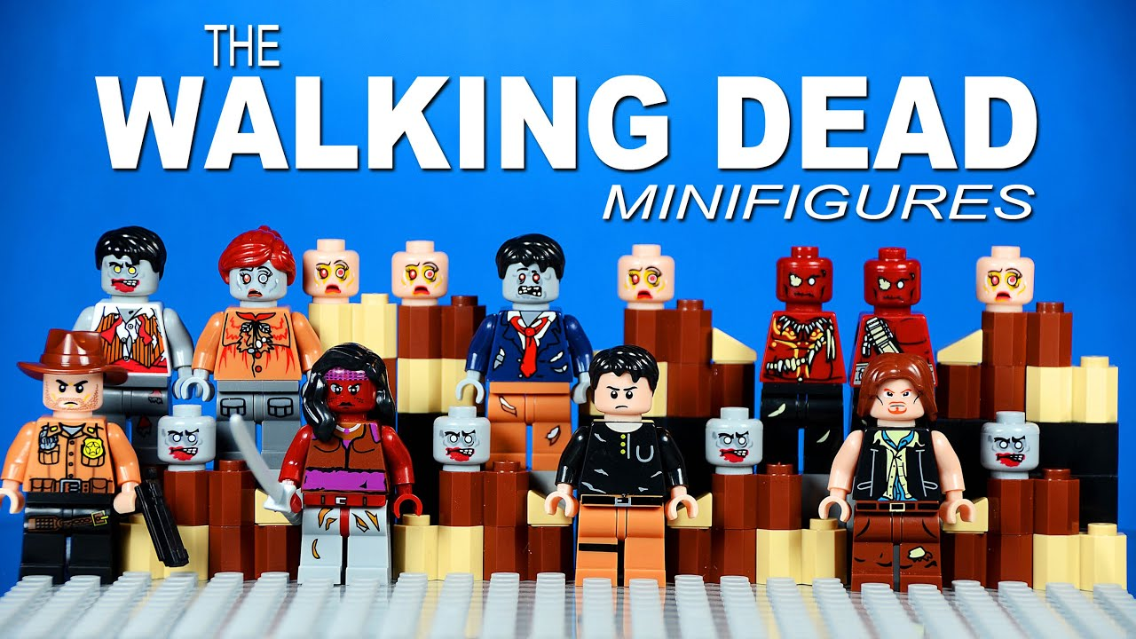 Lego the walking dead knockoff minifigures set 1 with daryl dixon michonne and rick grimes youtube