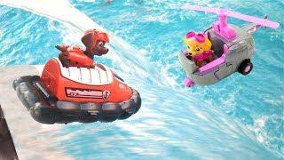 Щенячий Патруль и аквапарк. Игрушки для детей, ремонт лодки