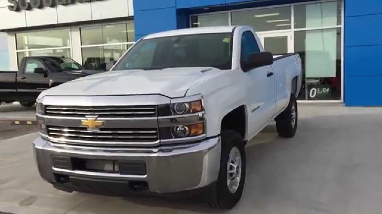 white 2015 chevrolet silverado 2500hd 4wd reg cab 133 6 wt at scougall motors in fort macleod. Black Bedroom Furniture Sets. Home Design Ideas