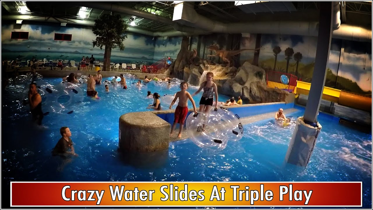 Crazy Water Slides At Triple Play Youtube