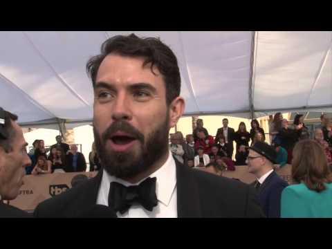 Tom Cullen Exclusive  at SAG Awards Carpet
