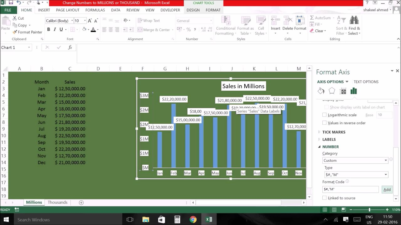 Excel tips change numbers to million m or thousand k youtube excel tips change numbers to million m or thousand k nvjuhfo Image collections
