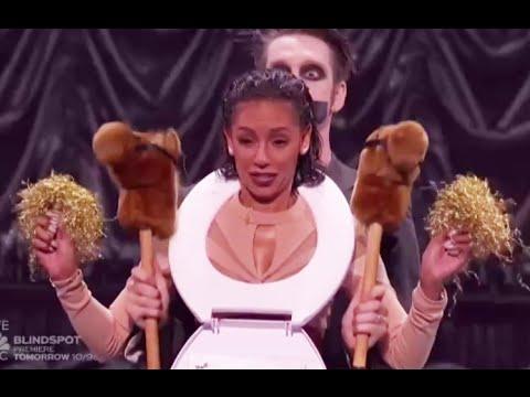 Tape Face: Mel B. Public TOILET Shaming! Live Finale (FULL)   America's Got Talent 2016