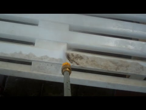 Pressure Washing a Filthy Bench
