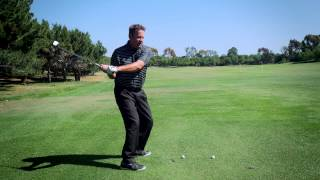 Get your golf swing unstuck-Left arm off chest