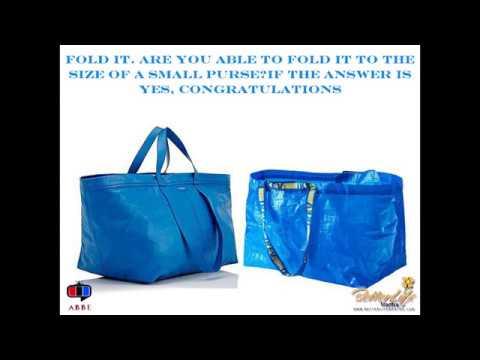 How To Identify An Original Ikea Bag From Balenciaga