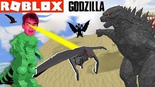 GODZILLA MONSTERS AWAKENED - ROBLOX GODZILLA Simulator YG Family Gaming Challenge