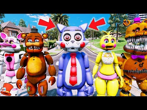 BRAND NEW FNAC ANIMATRONIC! CANDY IS HERE! (GTA 5 Mods For Kids FNAF RedHatter)