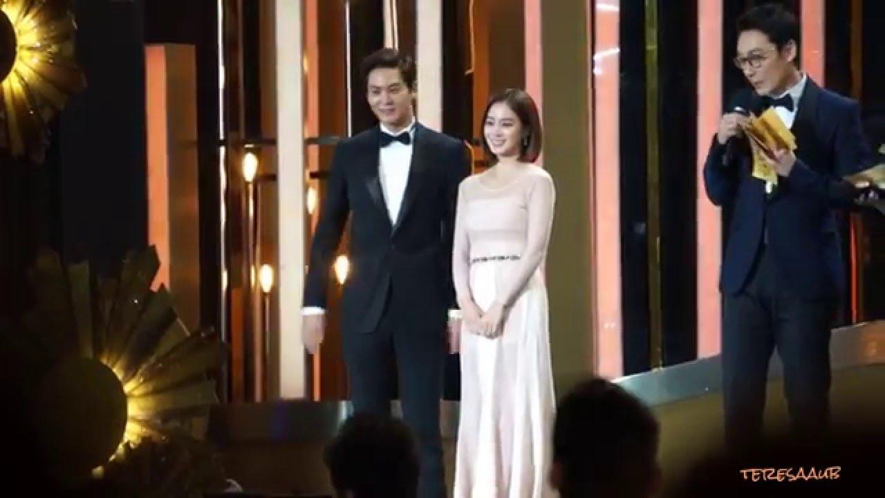 2015-12-31 2015 SBS Drama Award Joo Won Kim Tae Hee - Best Couple