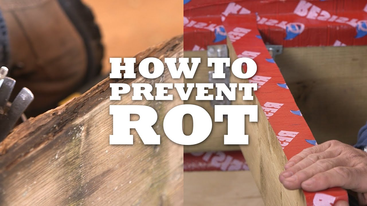 how to prevent rot and attach joists