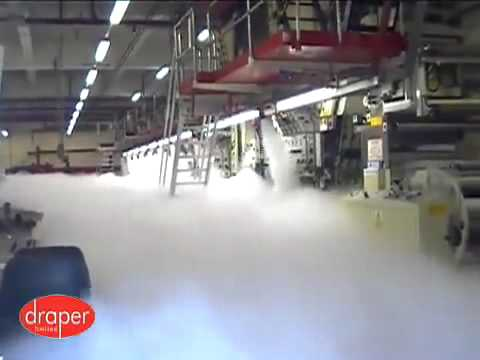 Fire Suppression System Co2 Gas Demonstration At A Print