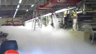 Fire Suppression System CO2 Gas Demonstration at a Print-Wo