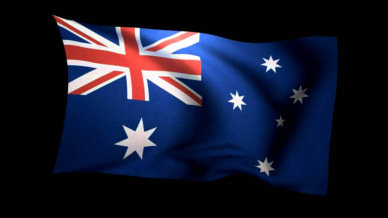 3d flag of australia waving in the wind stock video footage hd