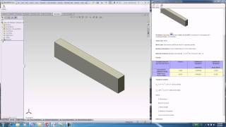 FEA Tutorial Bending of a Cantilever Beam in SolidWorks.avi