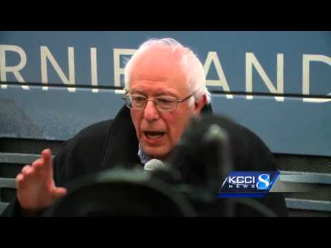Sanders talks economy and jobs during Iowa stops