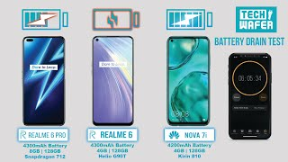 Realme 6 Pro vs  Huawei Nova 7i / Realme 6 Battery Test