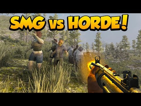 HORDE vs SMG & SHOTGUN! - 7 Days to Die Alpha 16 Multiplayer Gameplay #13