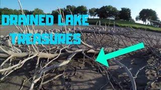 Treasure Hunting a DRAINED LAKE! (vlog)