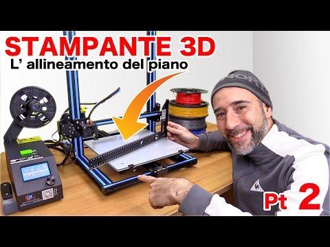 Stampante 3D - Come si fa l' allineamento del piano di stampa? ( 3D printer ) Parte 2