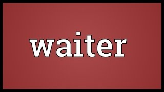 Waiter Meaning