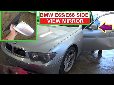 bmw e65 e66 side view mirror removal and replacement 2002 - 2008 7 series -  youtube