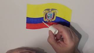 Learn geography for kids How to draw a flag Ecuador