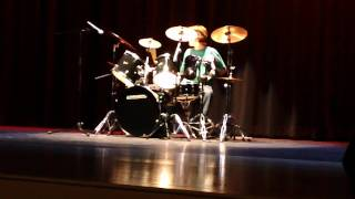 aronme playing drums for cocoa&#39s got talent top 5