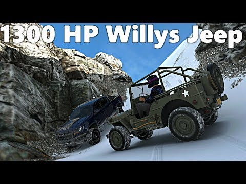 Forza Horizon 4: 1300+ Horsepower WILLYS JEEP!? Off-Road Build