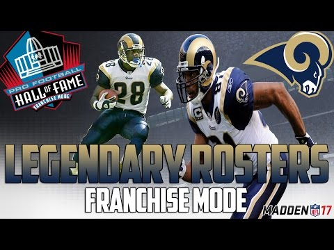 Legendary Rams Roster | Madden 17 Connected Franchise | Kurt Warner + Eric Dickerson
