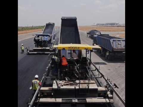 Abuja Airport runway construction