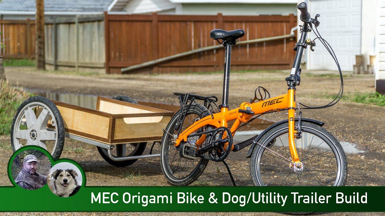 Mec Origami Bike Dog Utility Trailer Build Youtube