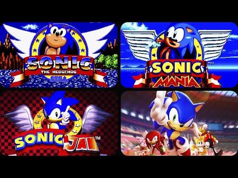 Evolution of Start Screen in Sonic Games (1991-2020)