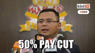 Selangor MB, excos to take 50% pay cut