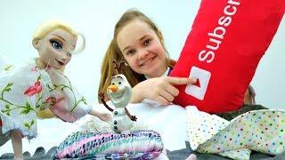 Видео для девочек - Пижамная вечеринка с Эльзой и Анной