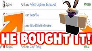 I BOUGHT AN ITEM FROM CYTHEUR!!! (Roblox)