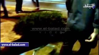 بالفيديو.. الأمن يستعين بالكلاب البوليسية لتأمين ميدان سفنكس